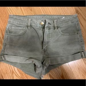 American Eagle Green jean shorts